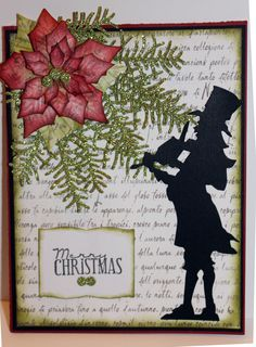 Tim Holtz Bigz Die with Cottage Cutz poinsettia.  Spellbinders die for the book.