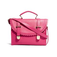 Satchel Bag With Scallop Flap And Metal Tips by ASOS