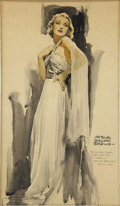 illustration of Greta Garbo