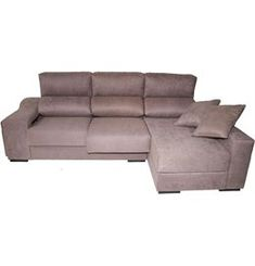 Chaise longue derecha con 2 puffs LUCÍA DYMAR - Conforama Relax, Couch, Furniture, Home Decor, Timber Frames, Accent Pillows, Flats, Beds, Chaise Longue