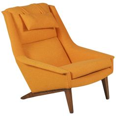 Scandinavian Modern Lounge Chair by Folke Ohlsson | From a unique collection of antique and modern lounge chairs at https://www.1stdibs.com/furniture/seating/lounge-chairs/