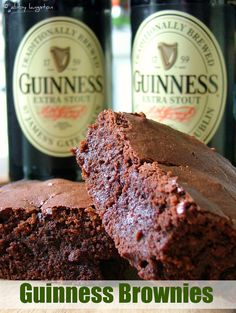 Guinness Brownies by Confabulation in the Kitchen #stpatricksday #treats #dessert