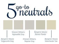 5 Go-To Neutral Paints