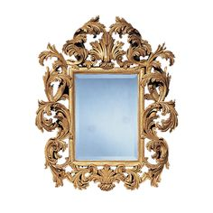 Firenze Mirror - Shown in Gilt, also available in greige and distressed black