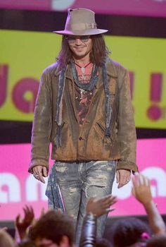 Really, anything Johnny Depp is wearing nowadays.