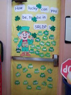 st patricks door decoration