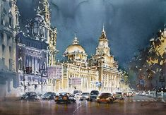 Rather than taking simple photos, the Chinese artist Kwan Yeuk Pang decided to capture her travel memories in beautiful watercolor paintings. With her views of Shanghai, Paris, Florence, Hong Kong, Venice or Macau, Kwan Yeuk Pang reveals an amazing work on the lights of these big cities, leading us