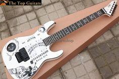 Custom Shop ESP Kirk Quija White Hammett Electric Guitar