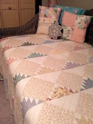 Delectable mountain quilt - love!
