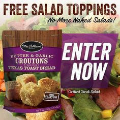 FREE Mrs. Cubbison's Salad Toppings   $1 Coupon on http://www.moneysavingmadness.com