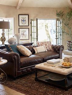 Barrow Chesterfield Leather Furniture Collection | Furniture Collection,  Family Room And Sofas