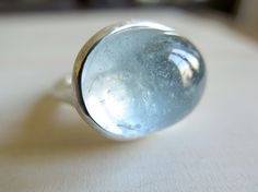 AQUAMARINE // Sterling silver ring with natural by masaoms on Etsy, €380.00
