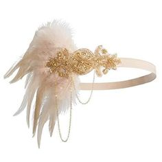 Handmade, 1920s Headband Roaring 20s – K-Champagne Flapper headband:100% Handmade,high quality rhinestone crystals, and feathers. Size: Free This fabulous 1920 headband features a gorgeous set of fluffy feather bursting out the side of a beautiful silver rhinestone and beaded applique. Perfect for your Gatsby themed wedding,Great Gatsby Gala,Halloween Costume,Prohibition Themed Party,20's murder mystery party, Downton … Handmade, 1920s Headband Roaring 20s – K-Champagne y