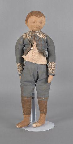 19th. c cloth boy doll