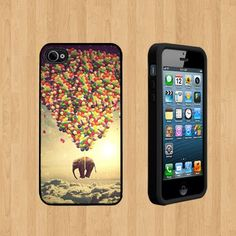Elephant with balloons Custom Case for Apple iPhone 4 and 4S