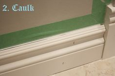 ... in the fun lane: Secrets of caulking and painting trim