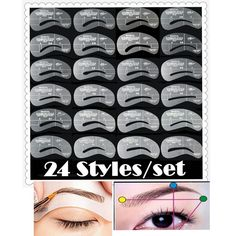 Reusable Eyebrow Stencils/Eyebrow Drawing Guide Card (24 Pieces/lot) //Price: $7.99 & FREE Shipping //   #makeuptools
