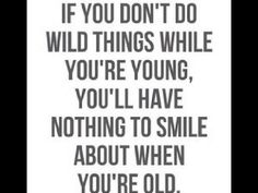Wild things? Err..