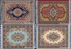 Set of 4 Dolls House Rugs for Dollhouse Furniture  Miniature Woven Dollhouse Carpet  6 X 4 -- Read more  at the image link.