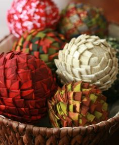 fabric pinecones. My mom taught me to make these and I've made several for ornaments they are beautiful!