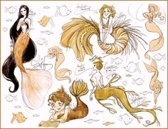 Mermaid concepts by Vilva.deviantart.com on @deviantART