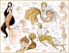 Mermaid concepts by Vilva.deviantart.com on @deviantART