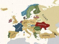 populairste meisjes namen per land (europa) als je op de link klikt ze je ook de populairste jongensnamen .
