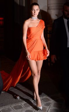 Bella Hadid from The Big Picture: Today's Hot Photos  The model looks stunning leaving a party in Paris during fashion week.