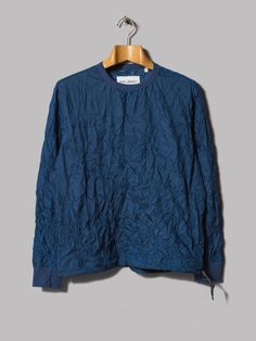 SP Pullover Sweater in Crinkled Blue Tech by Our Legacy