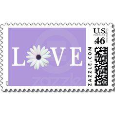 Purple Love Stamp   Purple Love postage stamps
