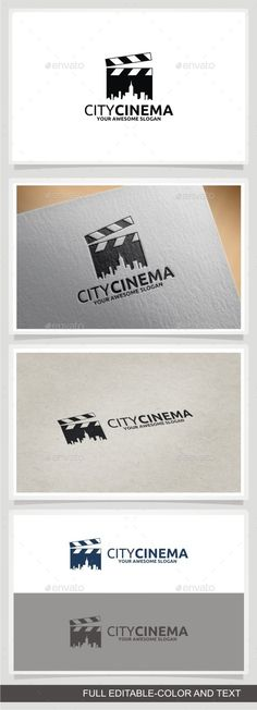 City Cinema Logo Template #design #logotype Download: http://graphicriver.net/item/city-cinema/11466198?ref=ksioks