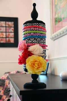Need to make this!!  The Good Life: DIY Headband Holder