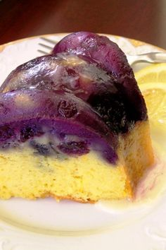 Blueberry Lemon Cream CheeseBundt Cake with Homemade Sugar Glaze
