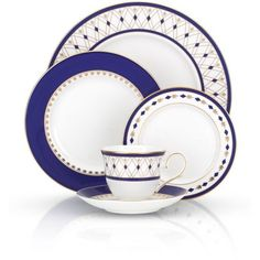 Lenox White Royal Grandeur 5-Piece Place Setting ($140) ❤ liked on Polyvore featuring home, kitchen & dining, dinnerware, white, lenox dinnerware, white dinnerware and lenox