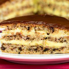 Apple Desserts, Just Desserts, Nazook Recipe, Sweets Recipes, Cooking Recipes, Hungarian Cake, Romanian Desserts, Banana Pie, Desert Recipes