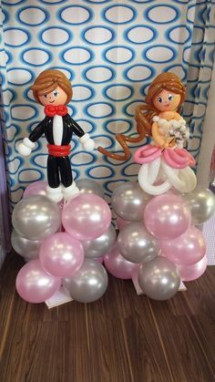 Bride & groom balloon