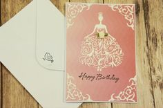 Handmade pink Happy 16th, 18th, 21st or any age Birthday card for a very special person - daughter, sister, girlfriend , wife or friend.