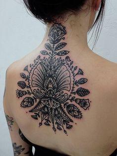 Gorgeous Tribal Flower Tattoo for Women