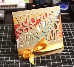 Awesome card by Kristina Werner