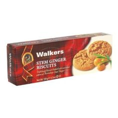 Walkers Shortbread Stem Ginger Cookies, 5.3 Ounce -- 12 per case.