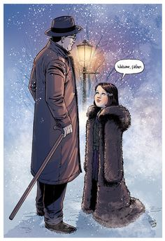 """""""Welcome, Father."""" Lucy welcoming C.S. Lewis to Narnia!! I cannot express how happy this makes me. :)"""