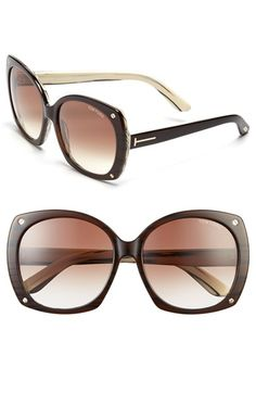 Tom Ford 'Gabriella' 59mm Oversize Sunglasses available at #Nordstrom