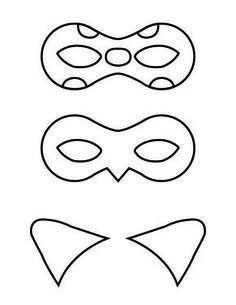 Free printable masks and cat ears for Ladybug and Cat Noir!