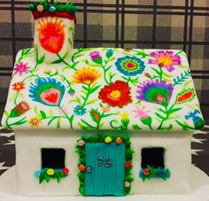 Gingerbread House Pictures, Easy Gingerbread House, Gingerbread Village, Gorgeous Cakes, Pretty Cakes, Holiday Cookies, Holiday Treats, Cookie House, Macarons