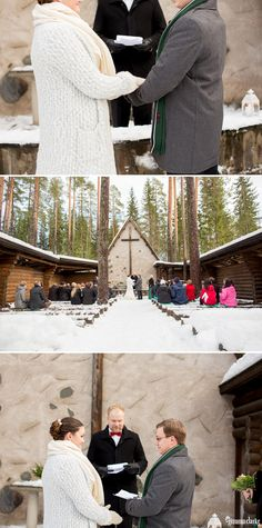An Australian bride and a Finnish groom decided to have an open air chapel Winter Wedding in Finland. First look photos, fun games and lots of snow! Chapel Wedding, Wedding Ceremony, Popular Now, Winter Weddings, Outdoor Ceremony, Finland, Groom, Bride, Amazing