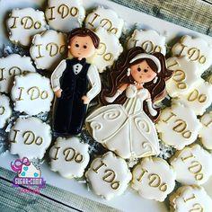 """I Do"" cookies for @brandonburtonphotography wedding open house last night…"