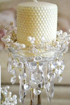 candle holders with chandelier crystals