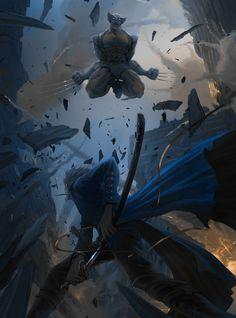 Tags: Sketch, Devil May Cry, Capcom, Vergil (Devil May Cry), Marvel, Wolverine, Marvel vs. Capcom
