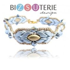 Eda bracelet - inst. downl. beading pattern with StormDuo and Irisduo beads