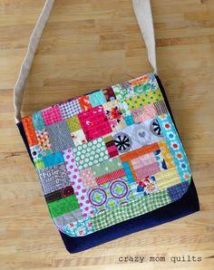 crazy mom quilts: a messenger bag